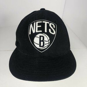 Brooklyn Nets Hat 7 1/2 Fitted Mitchell & Ness Black NBA